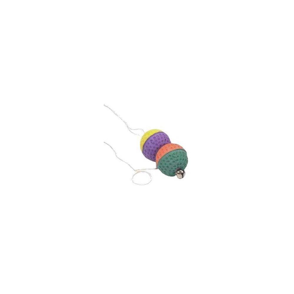TRIXIE Piłeczki na gumce z dzwonkiem 4098