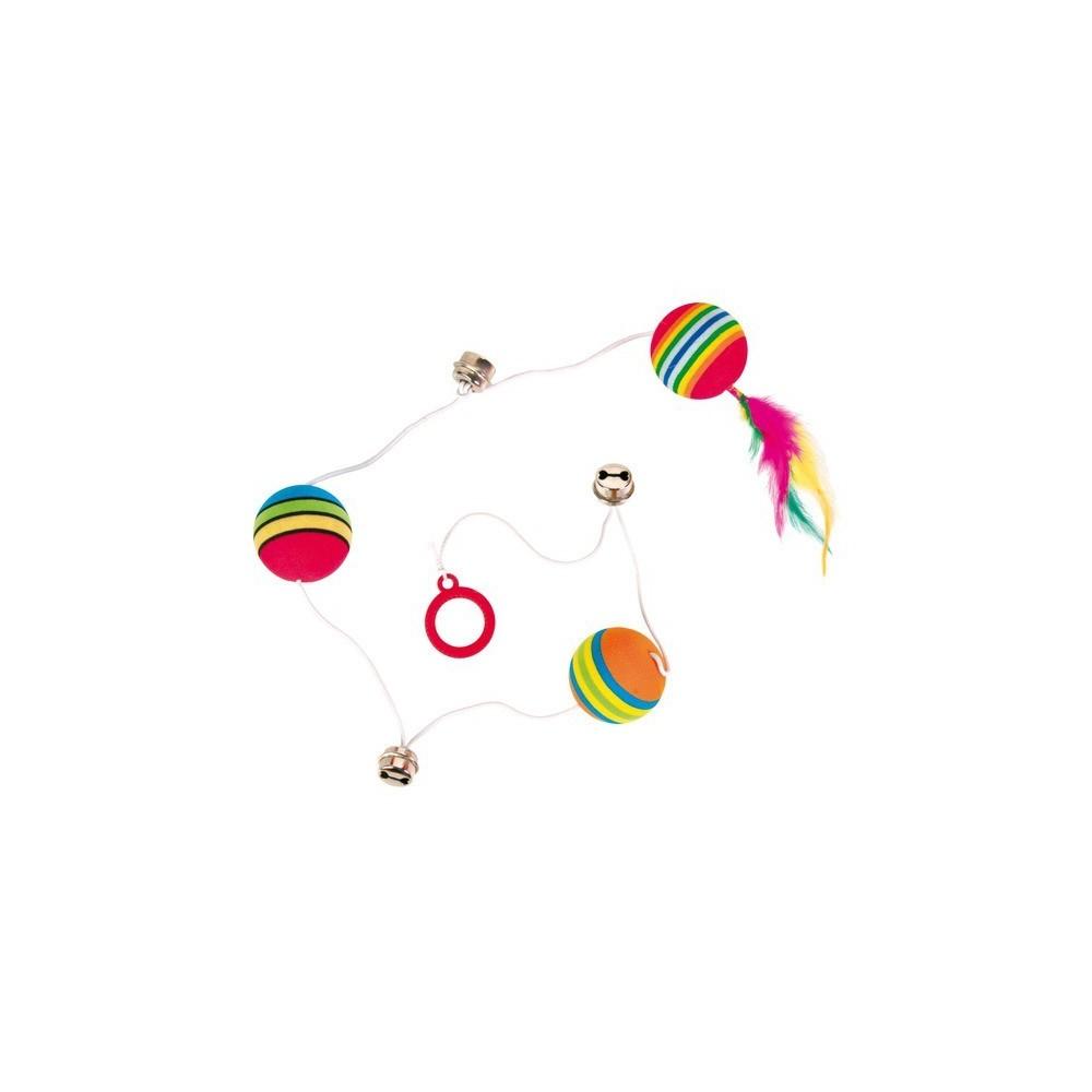 TRIXIE Piłka na gumce z piórkiem 3 szt. 4133