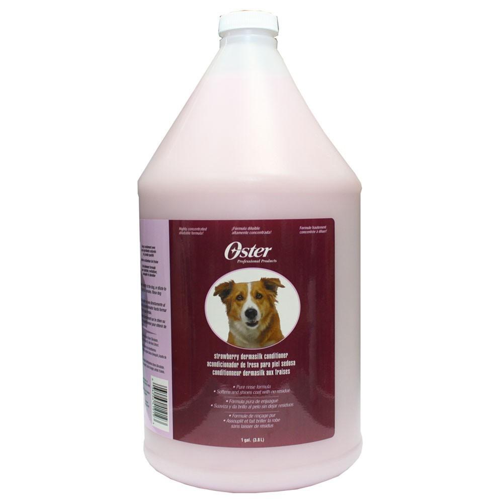 Oster Strawberry Dermasilk Conditioner - odżywka o zapachu truskawkowym do każdego typu sierści 3,78 l