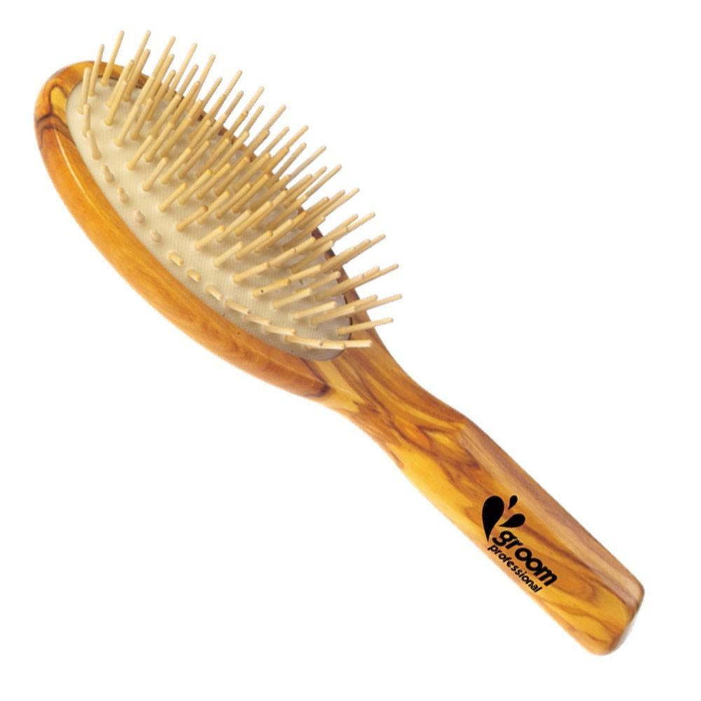 Groom Professional - szczotka antystatyczna z drewanianymi igłami, duża