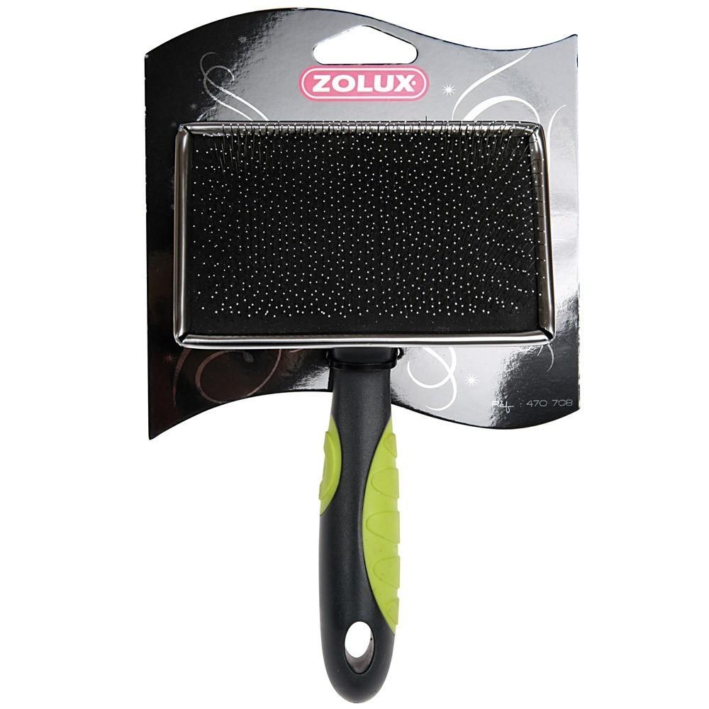 Zolux - szczotka prostokątna, miękka, igły bezpiecznie zakończone, duża