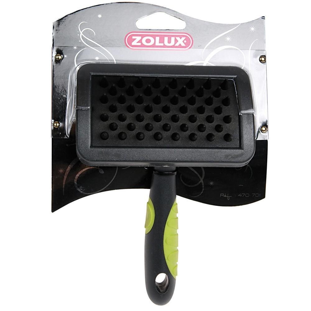 Zolux - szczotka kauczukowa dla psów krótkowłosych, średnia