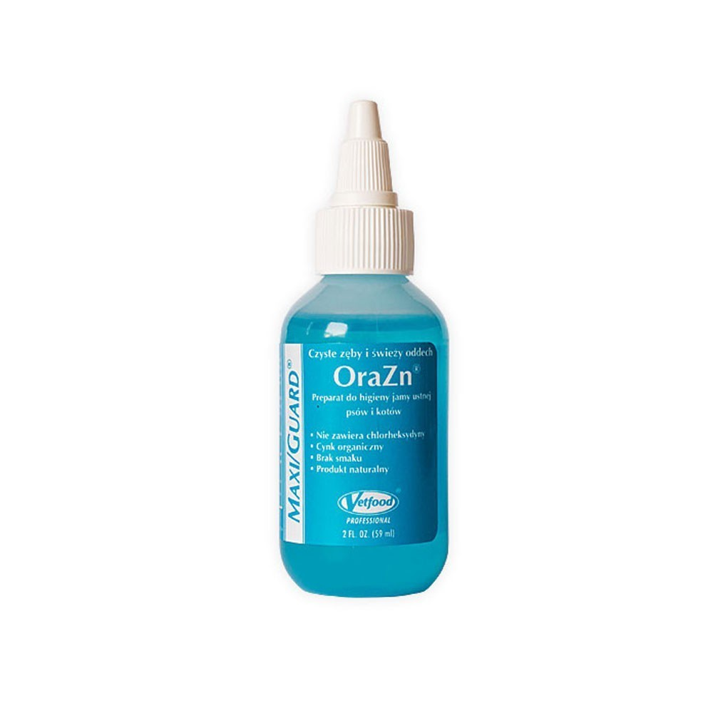 Vetfood MAXI/GUARD® OraZn® - preparat do codziennej higieny jamy ustnej psów jak i kotów 59ml