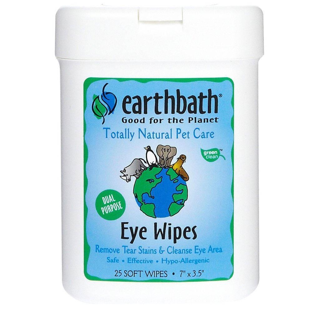 Earthbath Eye Wipes - chusteczki do czyszczenia oczu 25 szt.