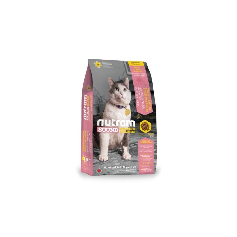 S5 Nutram Sound Adult & Senior Cat 1,8 kg