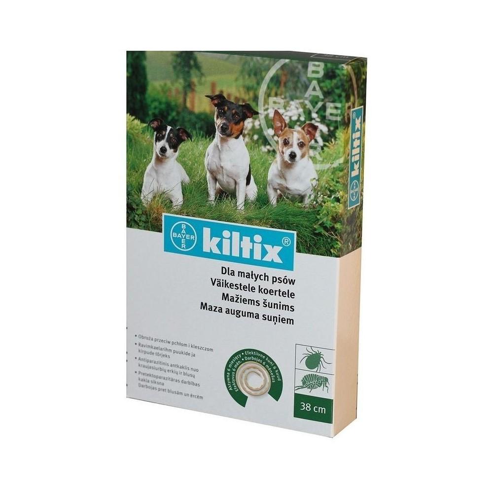 BAYER Kiltix - Obroża przeciwpchelna dla psów małych (dł. 38 cm)