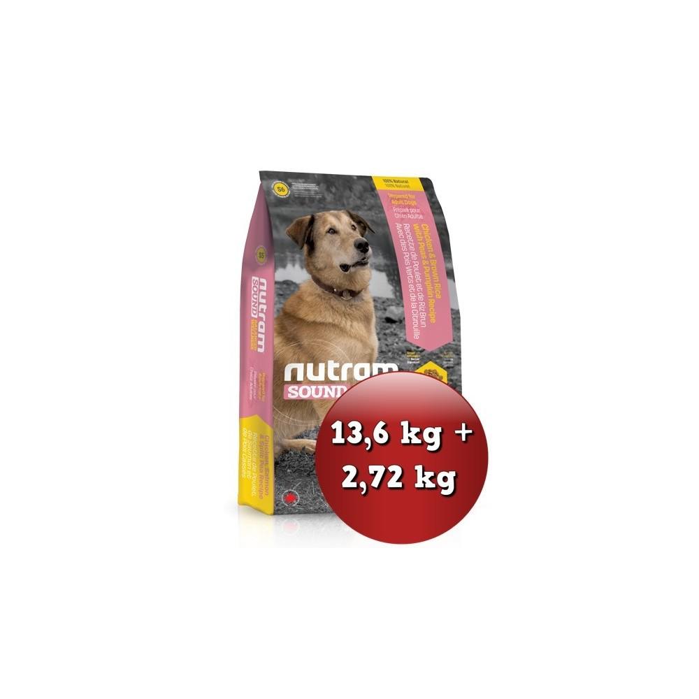 S6 Nutram Sound Adult Dog 13,6 kg + 2,72 kg