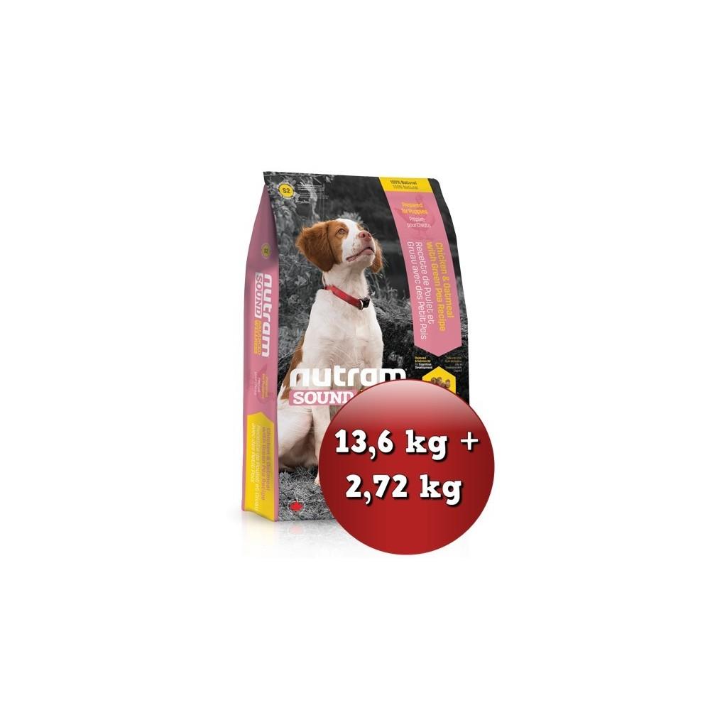 S2 Nutram Sound Puppy 13,6 kg + 2,72 kg