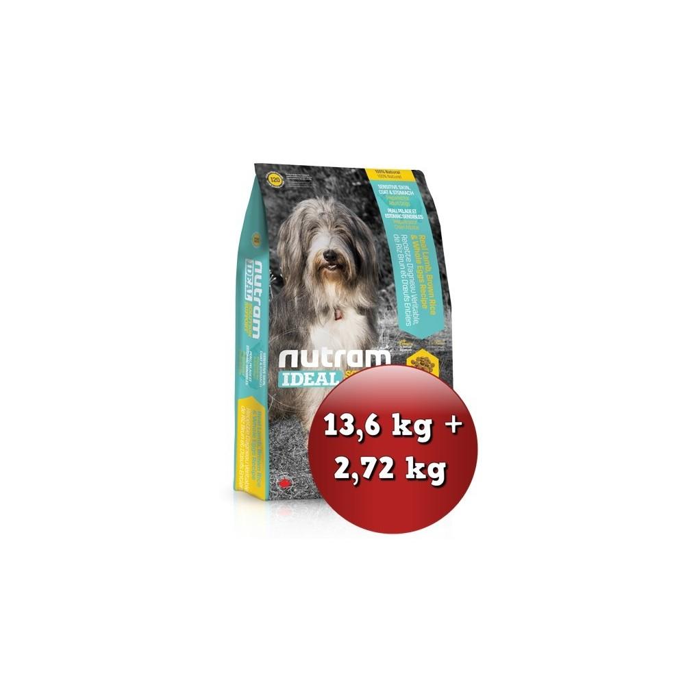 I20 Nutram Ideal Sensitive Skin, Coat 13,6 kg + 2,72 kg