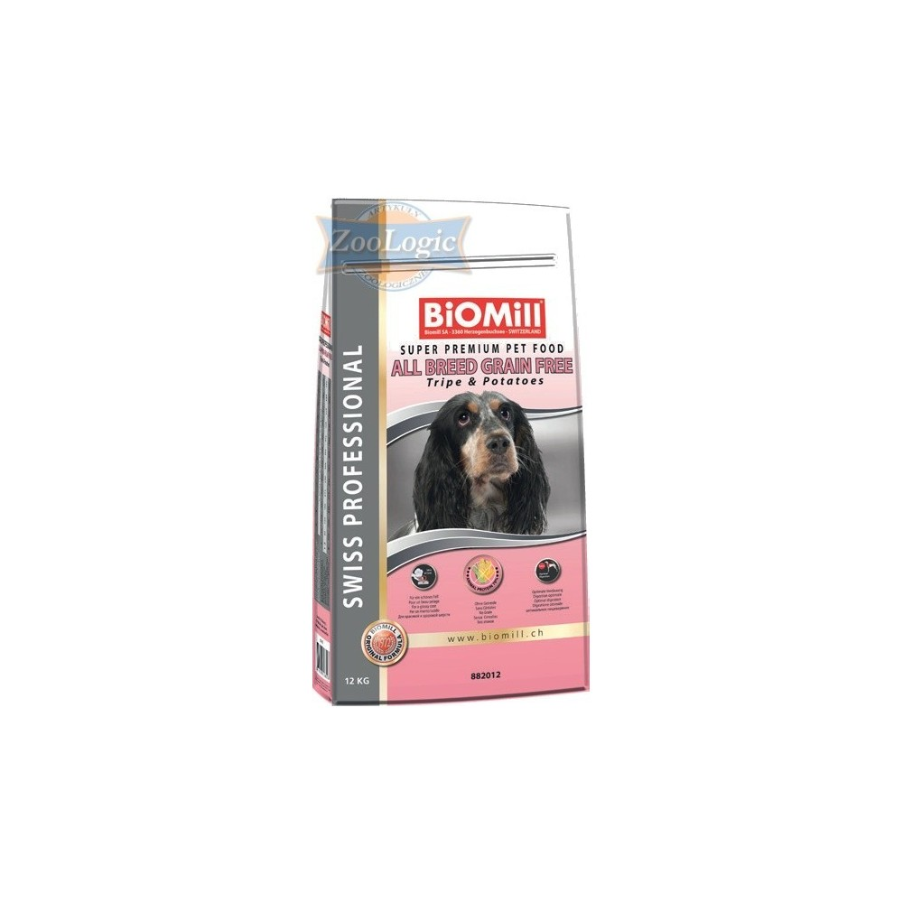 Biomill Swiss Professional All Breed Grain Free Tripe & Potatoes