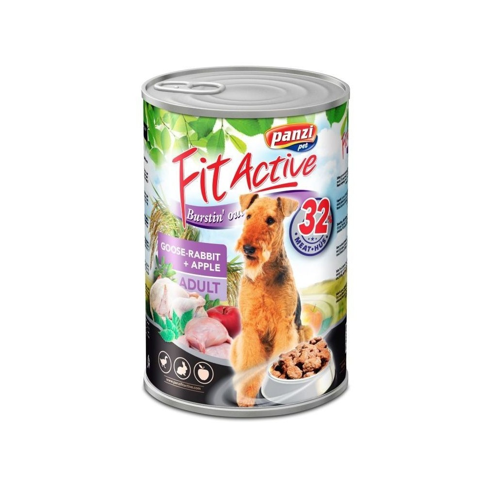 Fit Active Dog Adult Gęś, Królik puszka 1240 g