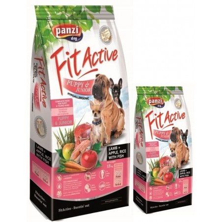 Fit Active Dog Hypoallergenic Puppy & Junior Lamb 15 kg + 4 kg