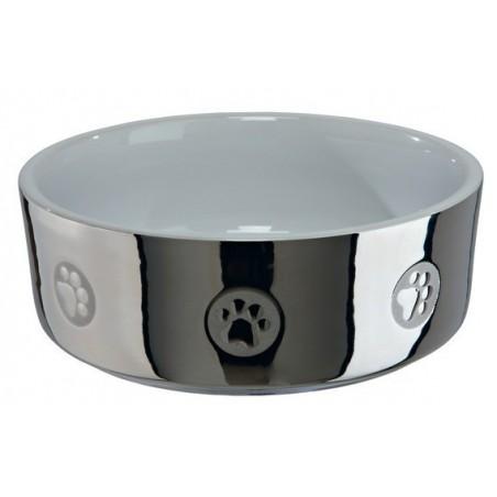 TRIXIE miska ceramiczna srebrno-biała dla psa 2508