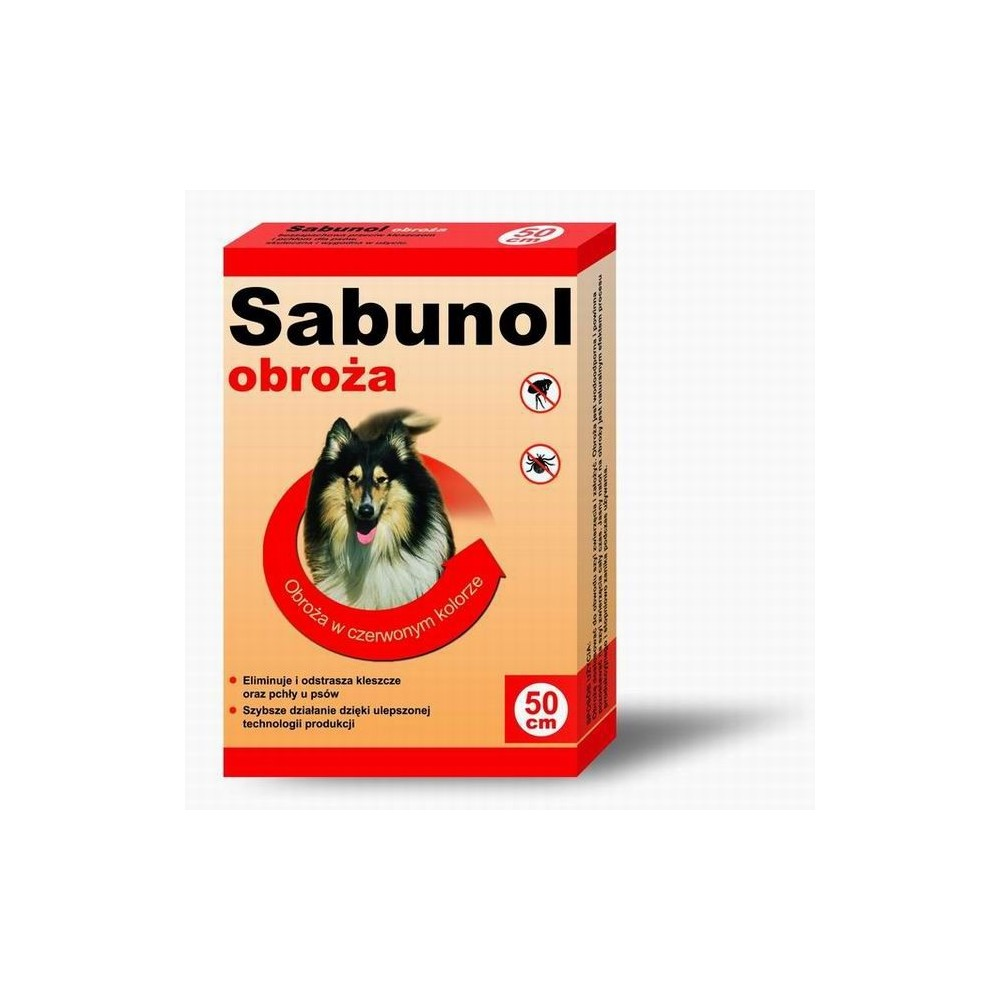 DR SEIDLA Sabunol - obroża przeciw pchłom i kleszczom 50cm