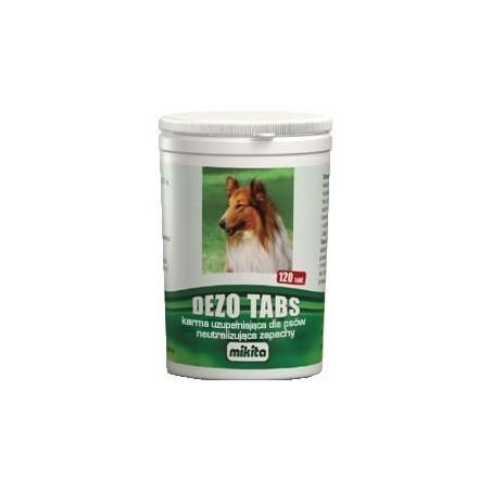 MIKITA Dezo Tabs - neutralizuje zapachy dla psów 120tabl.